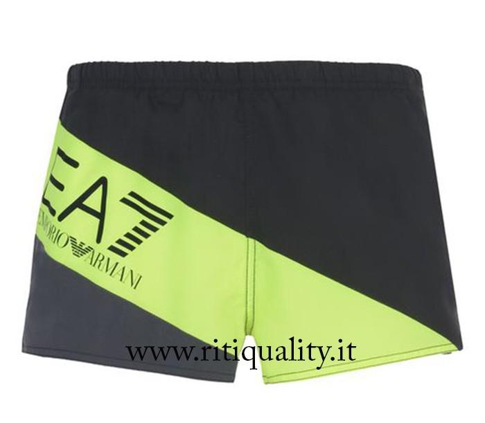 sale retailer 57a4a 47ee4 EA7 Emporio Armani Uomo Costume boxer logo giallo 902008 7P735