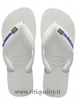 Infradito Havaianas Brasil Logo Bianco