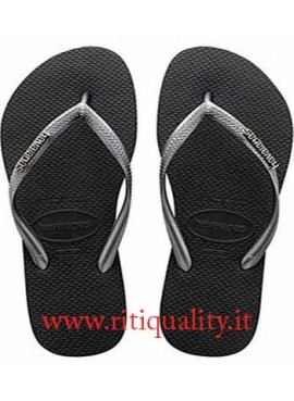 Havaianas Infradito donna Slim Logo Pop Up nero argento